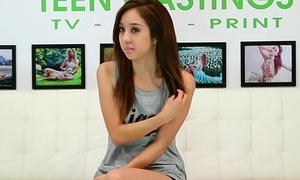 Asian teen squirts and fucks at one's fingertips casting