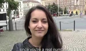 Cute Bush-leaguer Euro Slut Fucks In Open Street For Euros 20